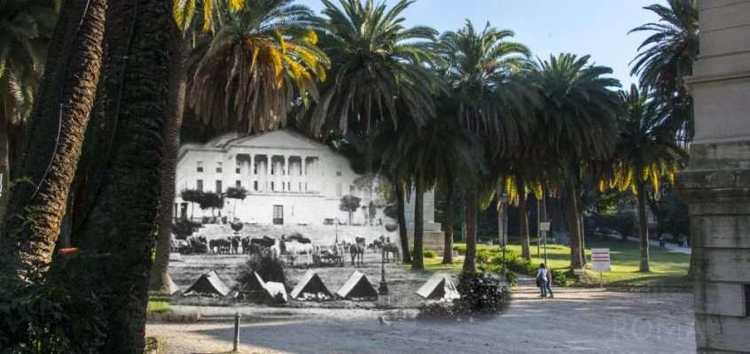 Le tende dell'esercito italiano a Villa Torlonia