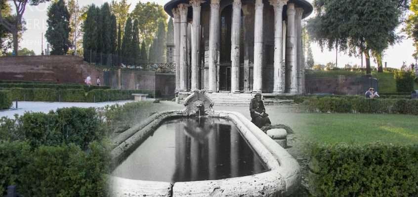 La vecchina al fontanile di Piazza della Bocca della Verità