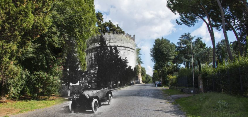 In automobile lungo l'Appia