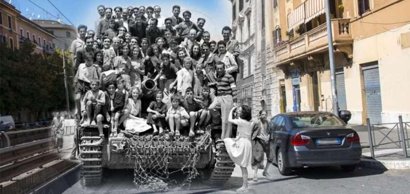 Quel Panzer tedesco parcheggiato in Via Casilina 529