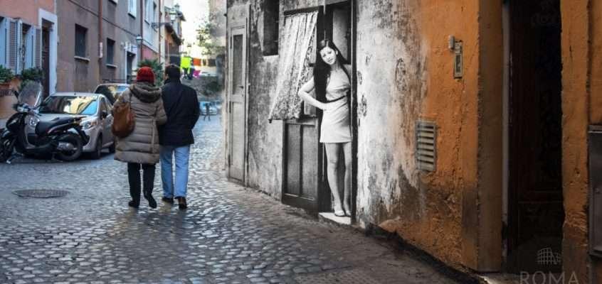 La bella trasteverina in Vicolo Moroni