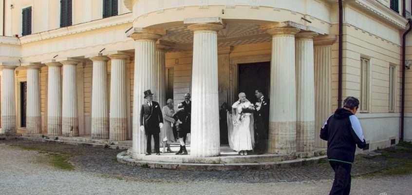 Il matrimonio della figlia di Mussolini a Villa Torlonia