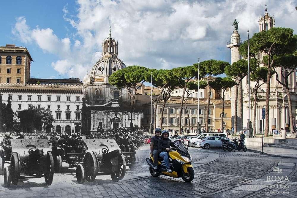 Parata militare in via dell 39 impero roma ieri oggi for Piani storici per la seconda casa dell impero
