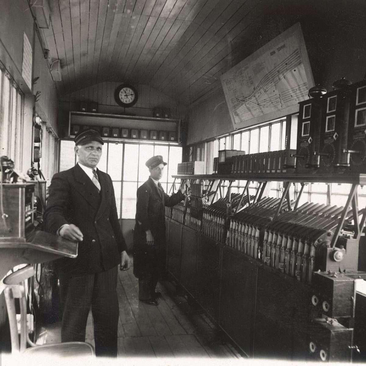 Apparato centrale a leve Antica Stazione Termini anni '30