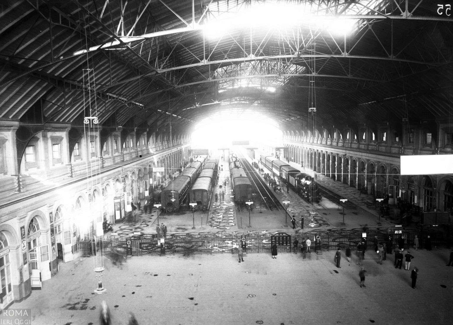 Interno Antica Stazione Termini anni '30