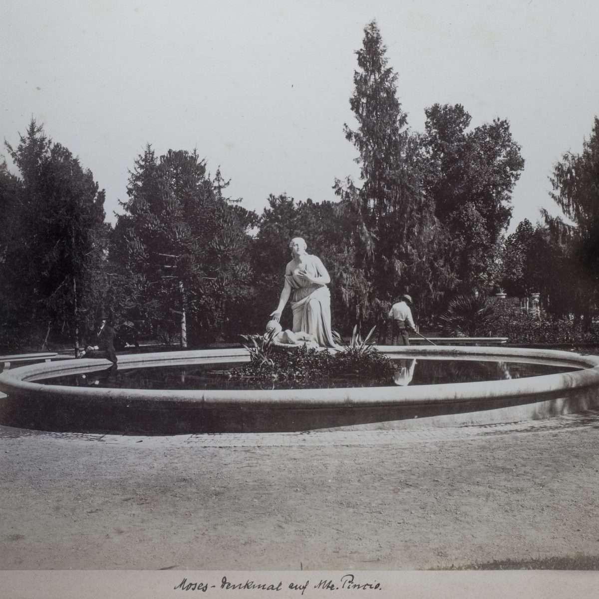 L-1090145 - Fontana del Mosè al Pincio - Alinari - 1870 :1875 ca