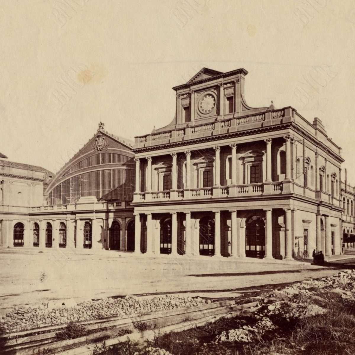 Stazione Termini quasi completata (1873 ca)