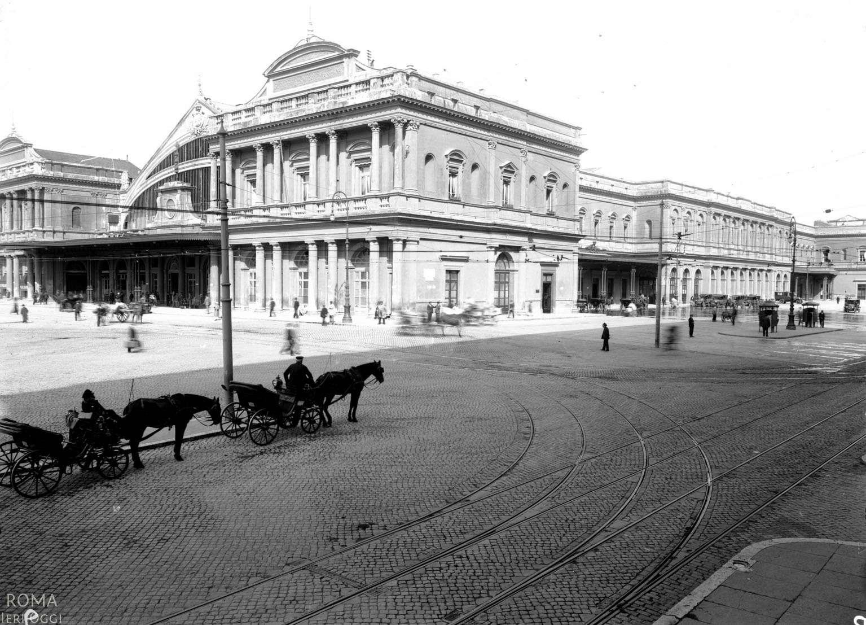 Antica Stazione Termini lato Via Giolitti anni '30