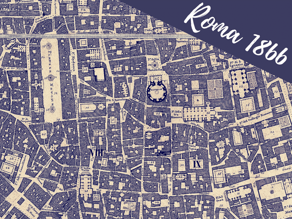 Piazza Di Spagna Cartina.Pianta Topografica Di Roma Censo Pontificio 1866 Roma Ieri Oggi