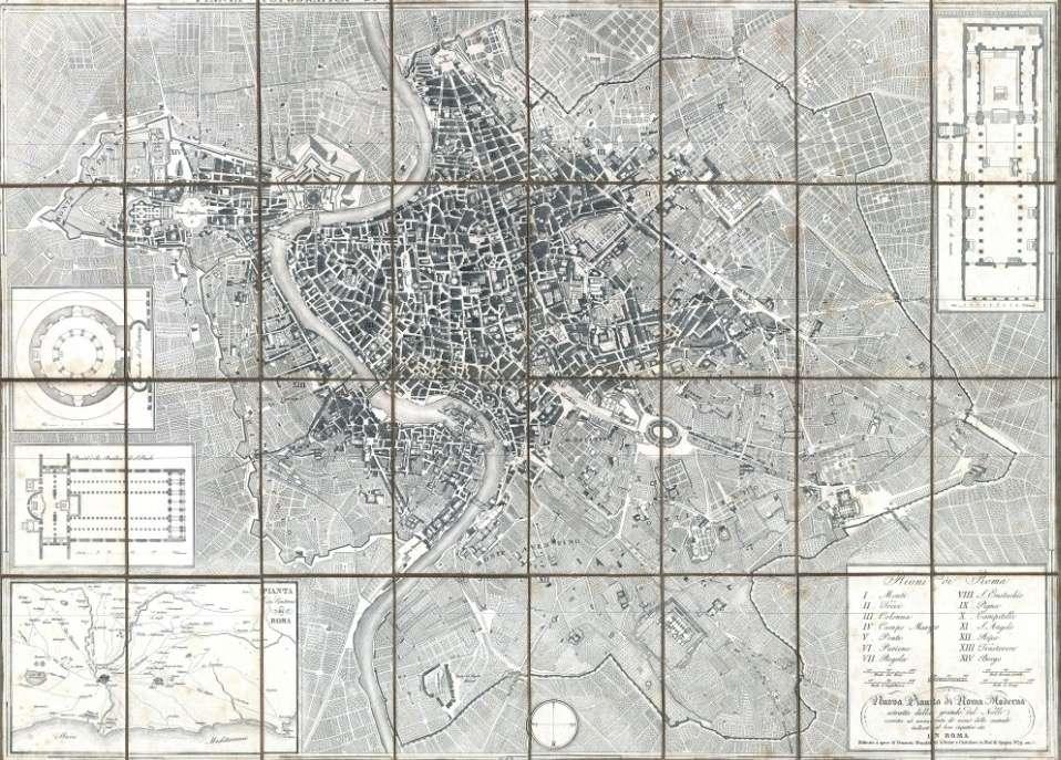 Nuova Pianta di Roma Moderna – Monaldini 1843