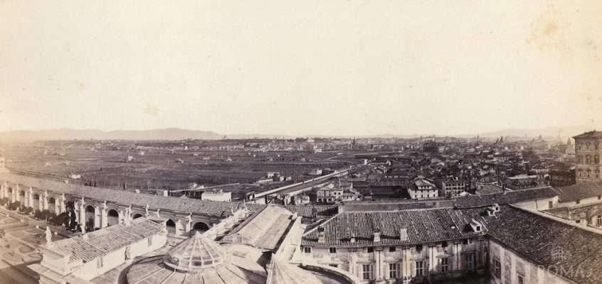 Vista dall'Osservatorio Vaticano (1869)