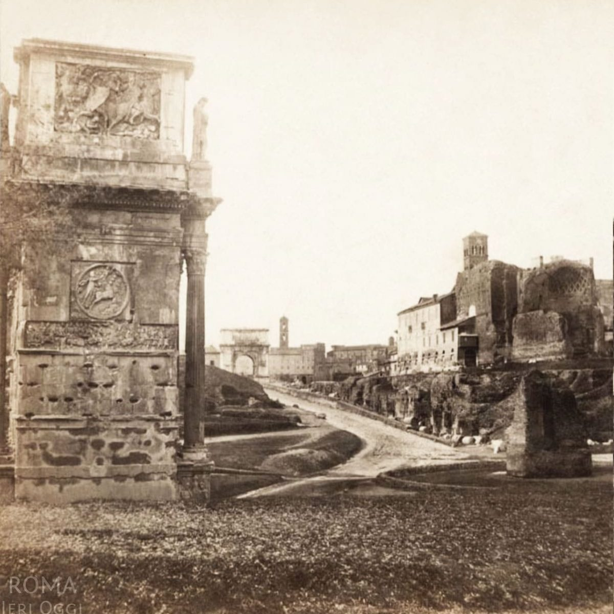 Piazza del Colosseo - Arco di Costantino e Meta Sudans