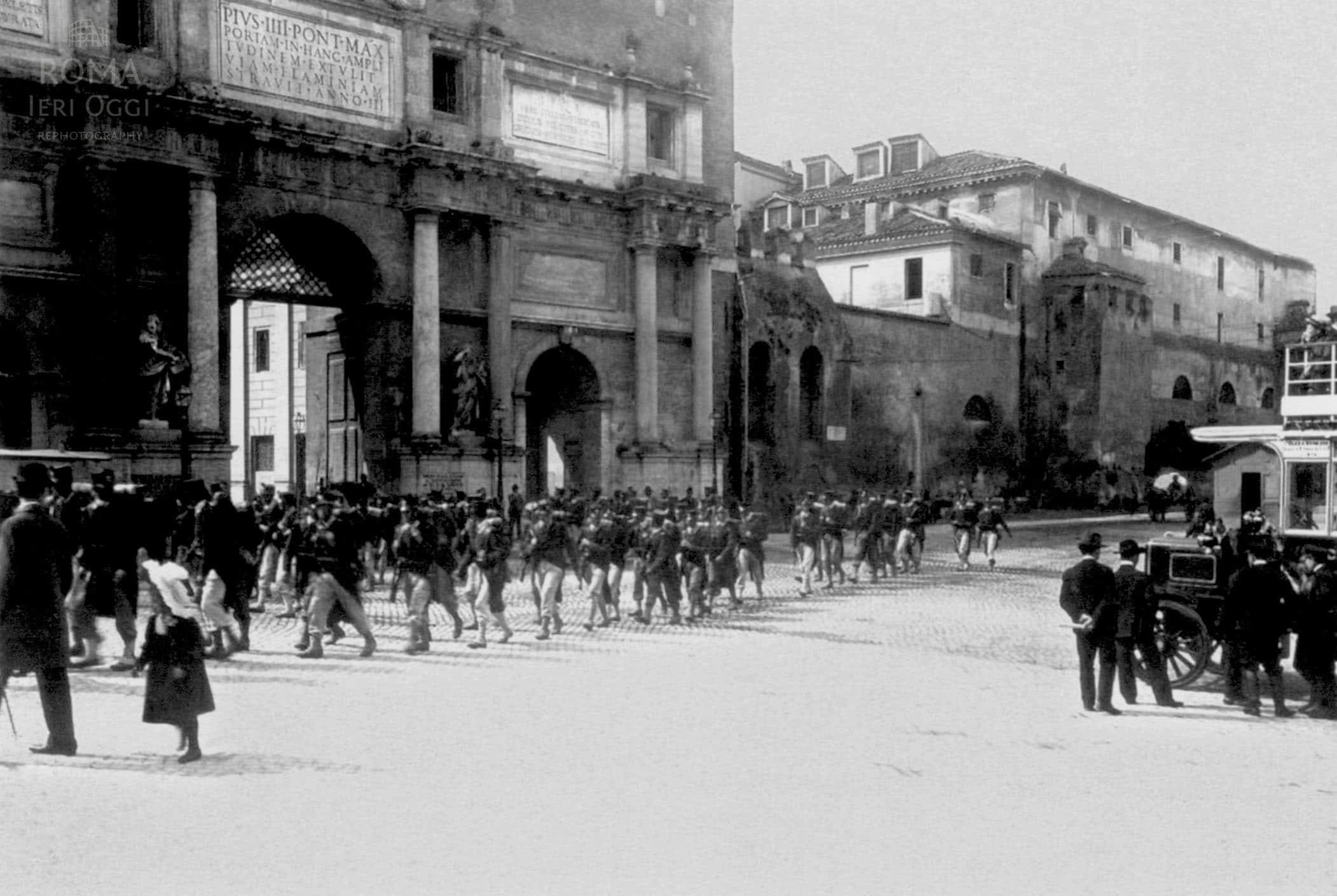 Piazzale flaminio 1903 roma ieri oggi - Porta portese messaggi ...