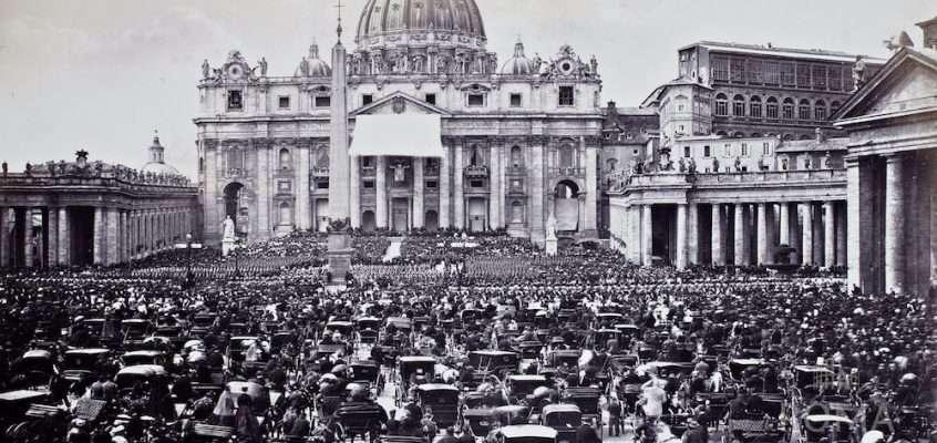Piazza San Pietro (1860 ca)