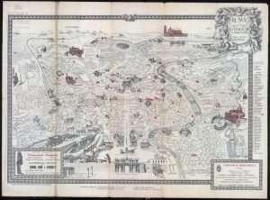 Mappa Roma - Tanfani & Bertarelli 1925