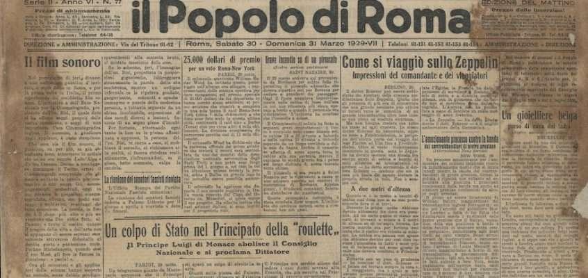 Il Popolo di Roma – 30 marzo 1929