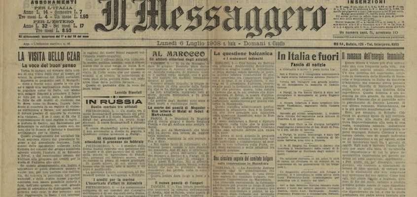 Il Messaggero – 6  luglio 1908