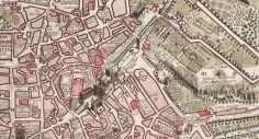 Mappa di Roma con vista – Losi (1773)
