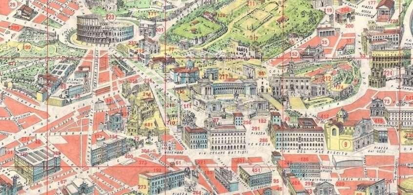 Pianta Panoramica di Roma (1960)