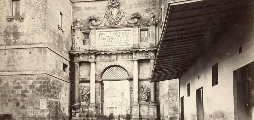 Porta Flaminia o Porta del Popolo (Filippo Lais, 1865 ca)