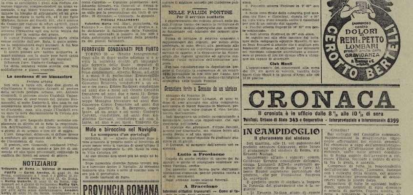 Il Messaggero – 1 dicembre 1907