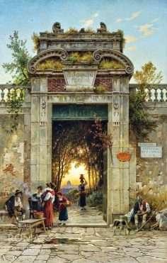 Villa Cavalieri sulla Via Flaminia (Hermann Corrodi)