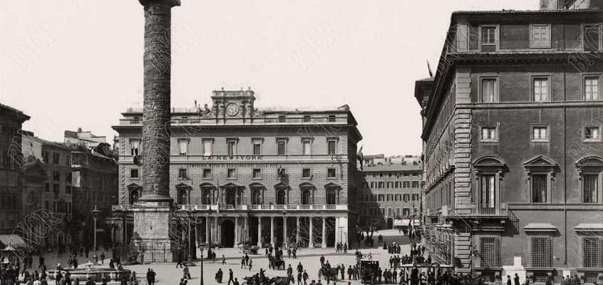 Piazza Colonna (1890 ca)