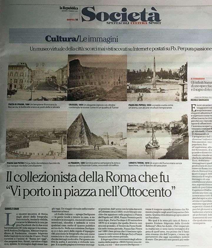 Roma Ieri Oggi è su la Repubblica (2017)