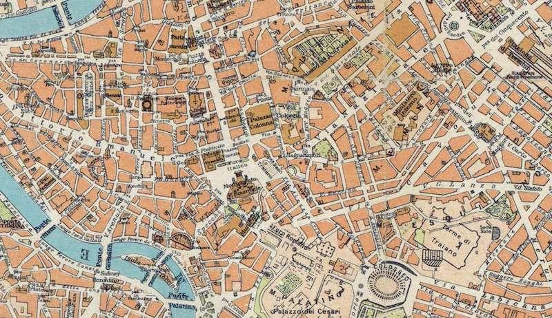 Cartina Roma Piazza Navona.Pianta Di Roma 1930 Roma Ieri Oggi