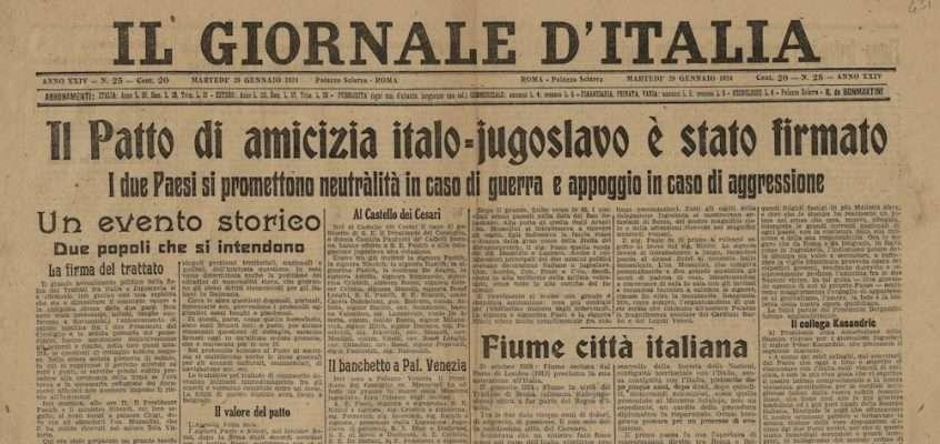 Il Giornale d'Italia – 29 gennaio 1924