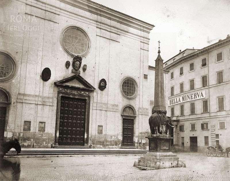 Piazza della Minerva (1865 ca)