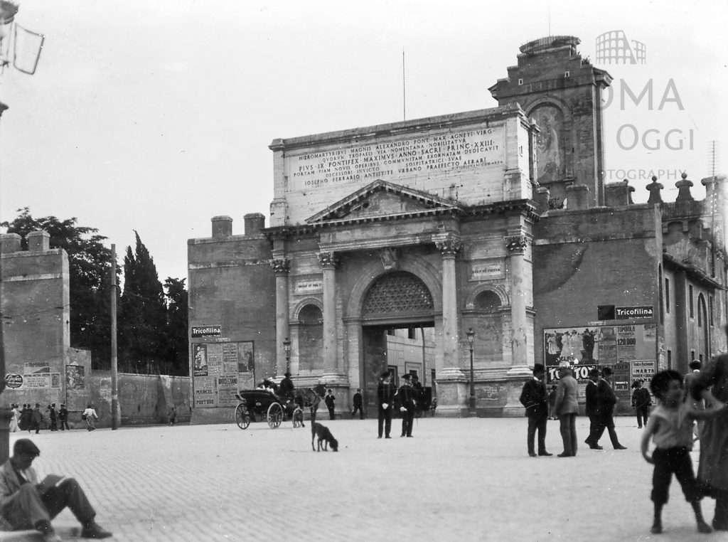 Piazzale di porta pia 1907 roma ieri oggi - Replica porta a porta di ieri ...