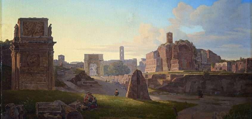 The Roman forum (Pierre Monami, 1849)