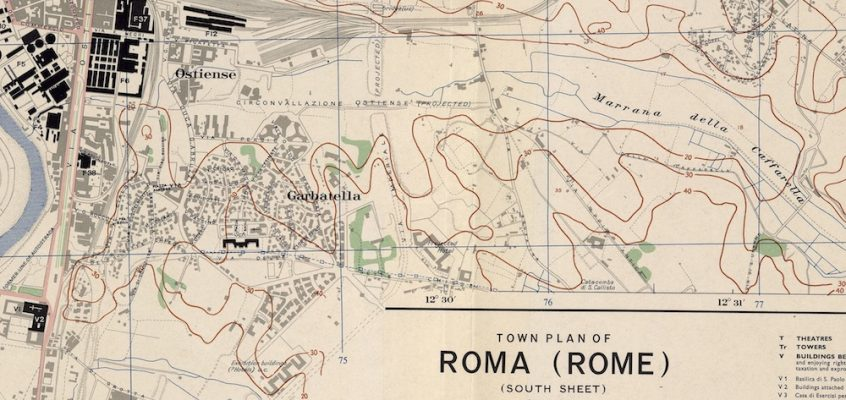 Town Plan Of Rome (1943) 2 mappe