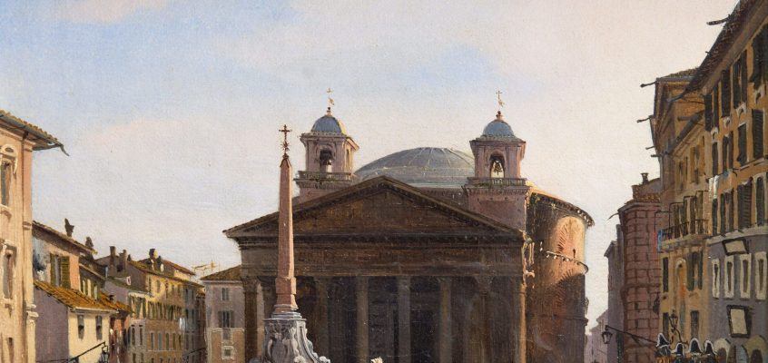 The Pantheon (Ippolito Caffi, 1840 ca)