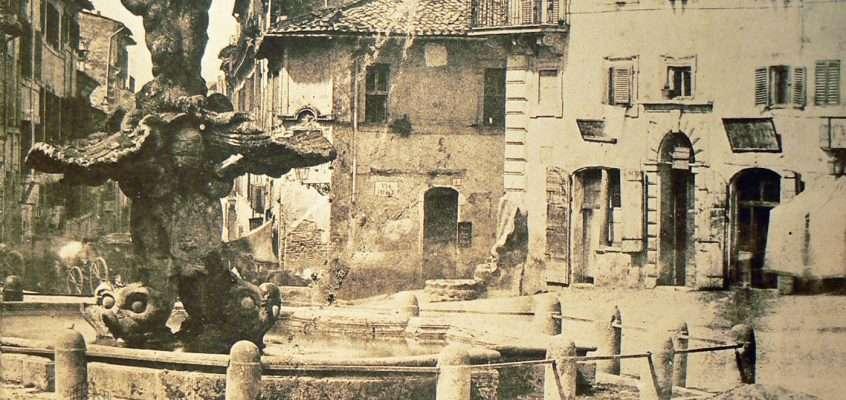Piazza Barberini (Tuminello, 1855)