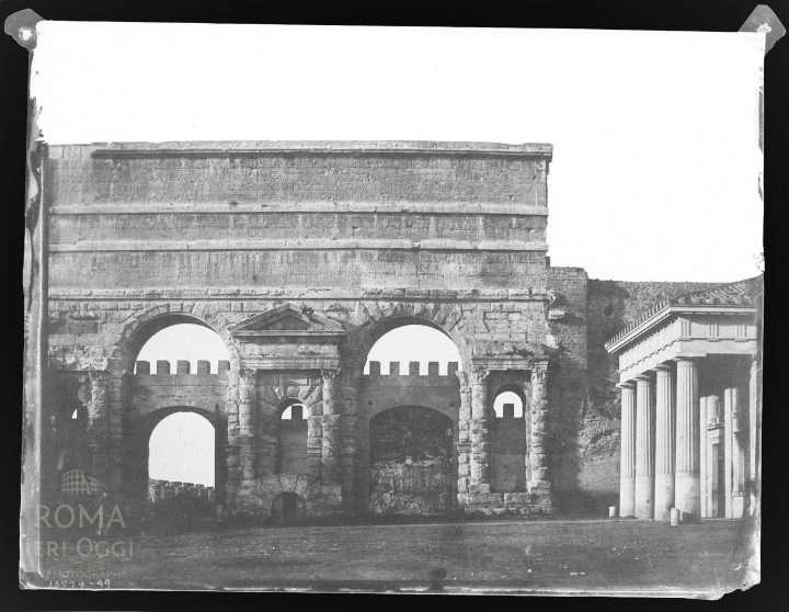 Piazza di porta maggiore 1850 roma ieri oggi - Replica porta a porta di ieri ...