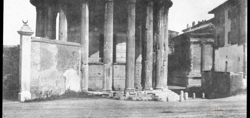 Piazza della Bocca della Verità (1850 ca)