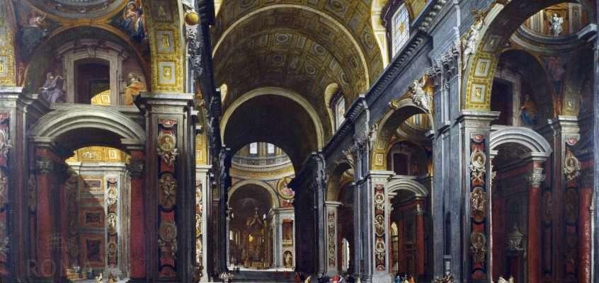 Basilica di San Pietro – Interno (Giovanni Paolo Pannini, 1730)