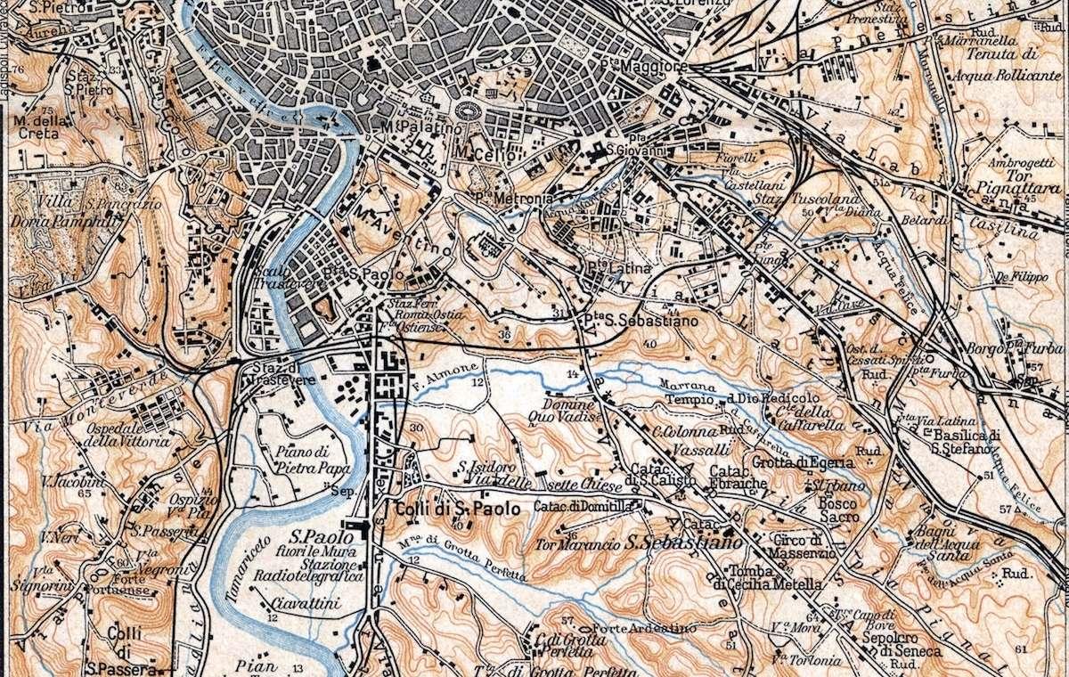 Lazio Carta Corografica Stradale (Vallardi, 1904) | Roma Ieri Oggi