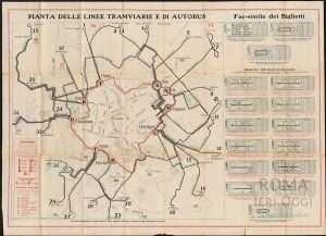 Pianta linee tramviarie e di autobus (1930 ca)