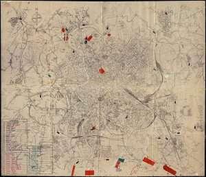 Mappa del piano regolatore di Roma 1931