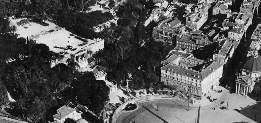 Piazza del Popolo (1920 ca) 2 foto