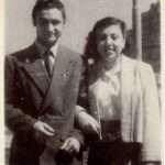 Riccardo Di Clemente - I miei genitori Lidia e Mario a Ponte Vittorio nel 1948