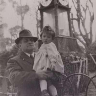 Lucia D'Onofrio - Nonno ed io - 1963 Orologio ad acqua Villa Borghese