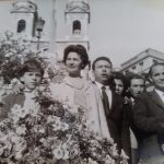 Adriana Bonomo - Io, mia zia Luciana, zio Angelo, mia Madre e mio Padre un po' nascosti, mio zio Tano. Infiorata di Trinità dei Monti 1964
