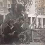 Aldo Ceccarelli - Mio padre con i suoi amici a Piazza dei Navigatori. Metà anni 50 circa