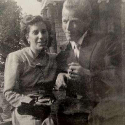 Alessandro Citti - mamma e papà a Villa Borghese 1950