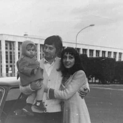 Alessandro Venturini - Mio Padre Mario Venturini,mia Madre Silvana Geday e mio fratello Claudio all'Eur, 1969