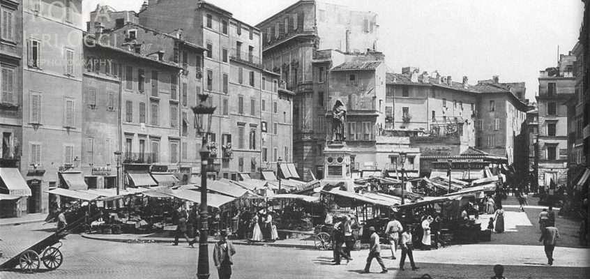Campo de' Fiori (Alinari, 1890 ca)